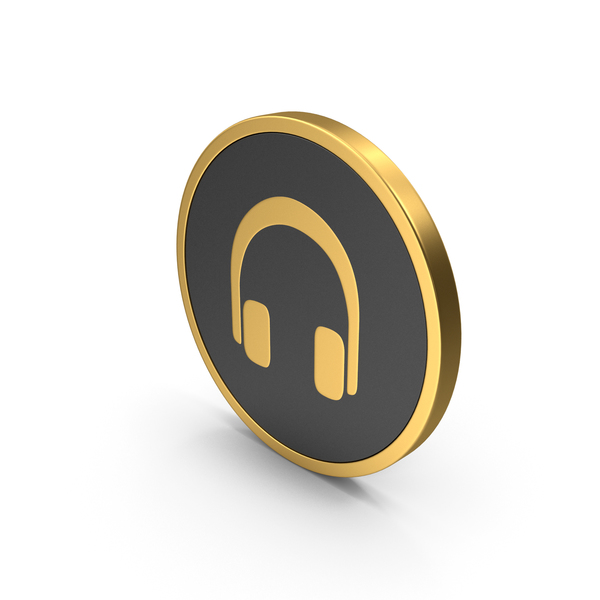 Gold Icon Headphones PNG & PSD Images