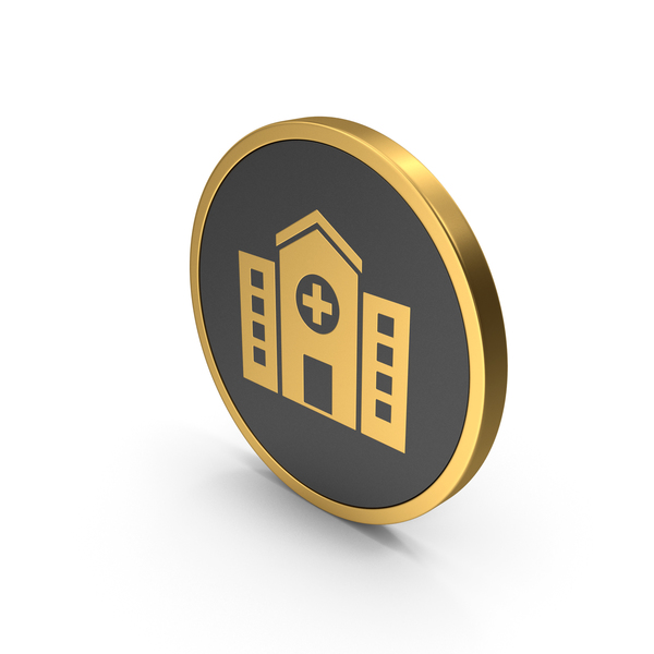Symbols: Gold Icon Hospital PNG & PSD Images