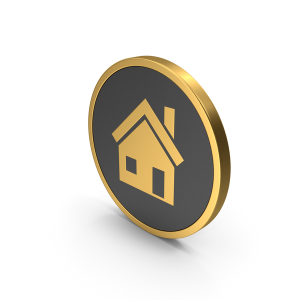 Symbols: Gold Icon House PNG & PSD Images