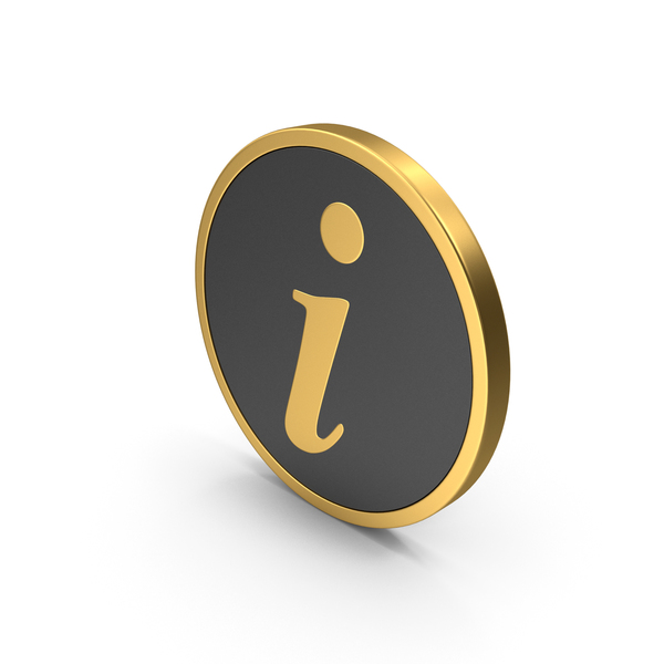 Gold Icon Info PNG & PSD Images