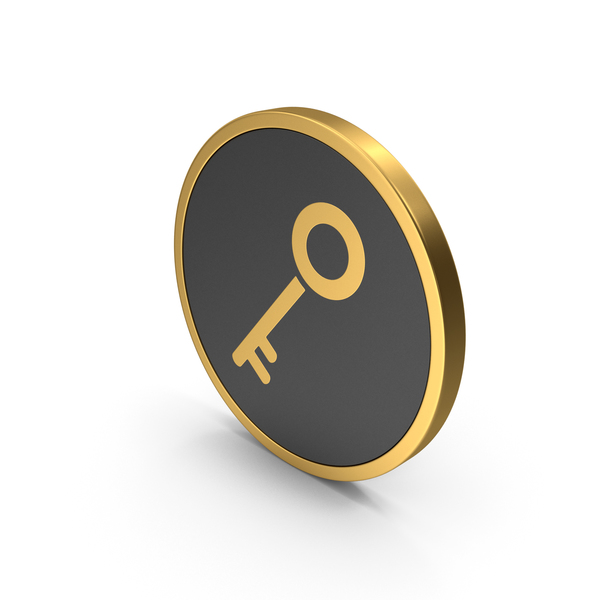 Computer: Gold Icon Key PNG & PSD Images