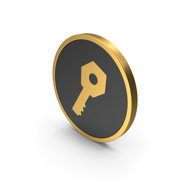 Logo: Gold Icon Key PNG & PSD Images