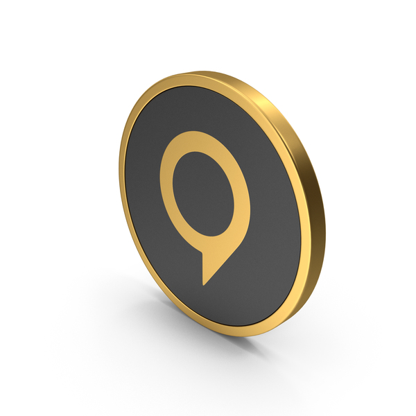 Gold Icon Map Pin PNG & PSD Images