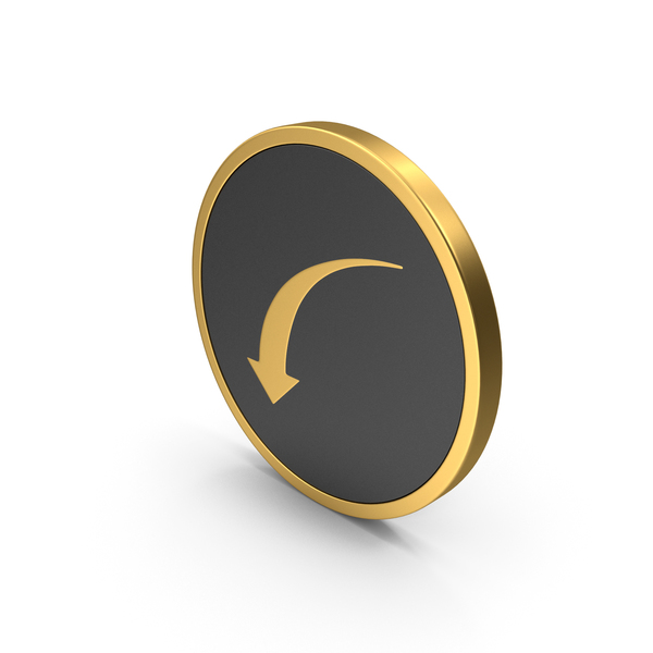Directional Arrow: Gold Icon Mark PNG & PSD Images