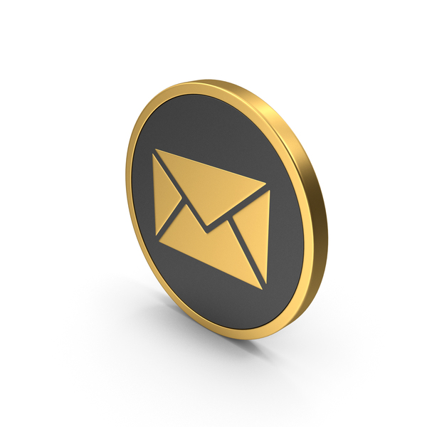 Gold Icon Message PNG & PSD Images