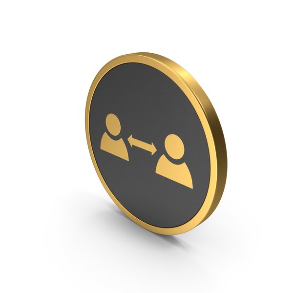 Computer: Gold Icon People Connect PNG & PSD Images