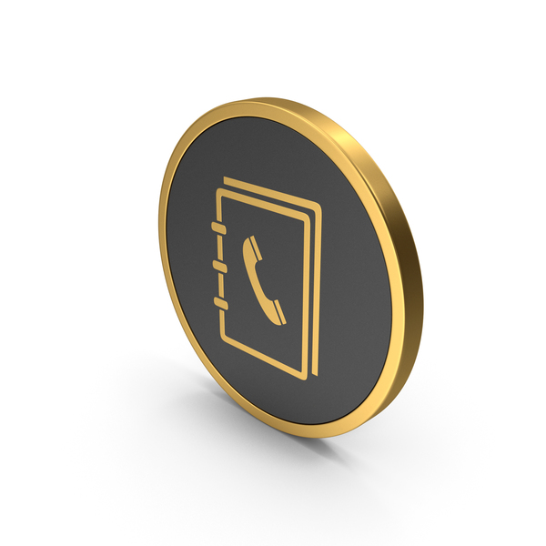 Logo: Gold Icon Phone Book PNG & PSD Images