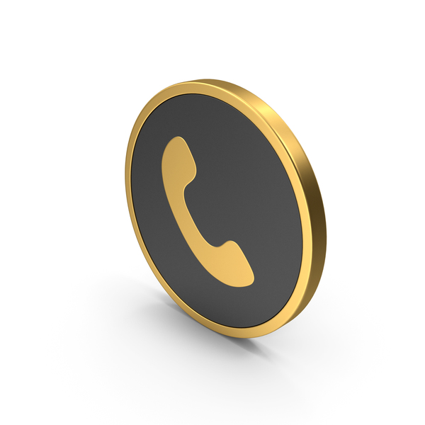 Gold Icon Phone PNG & PSD Images