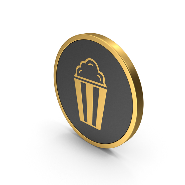 Gold Icon Popcorn PNG & PSD Images