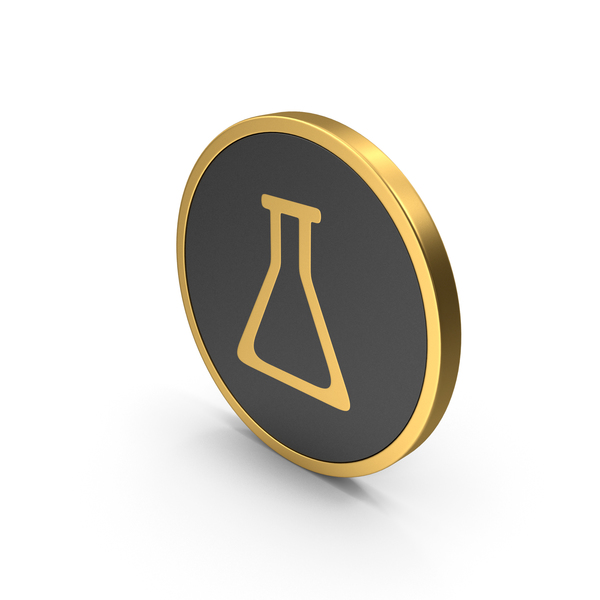 Gold Icon Potion Bottle PNG & PSD Images