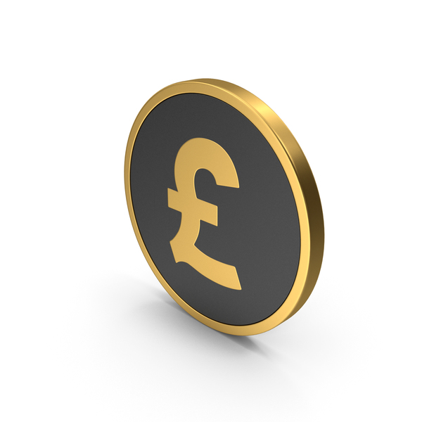 Symbols: Gold Icon Pound Sterling PNG & PSD Images