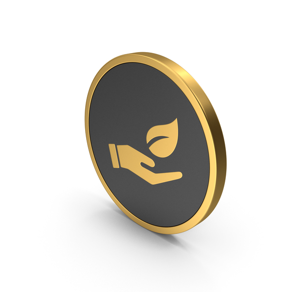 Symbols: Gold Icon Save Green PNG & PSD Images