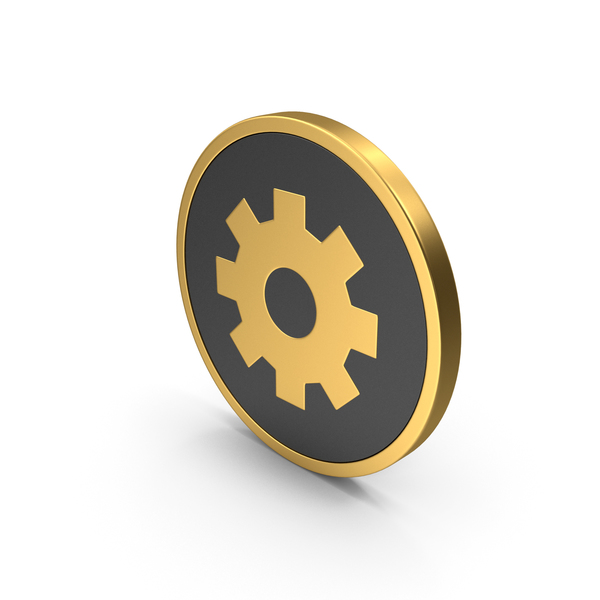 Gold Icon Settings PNG & PSD Images