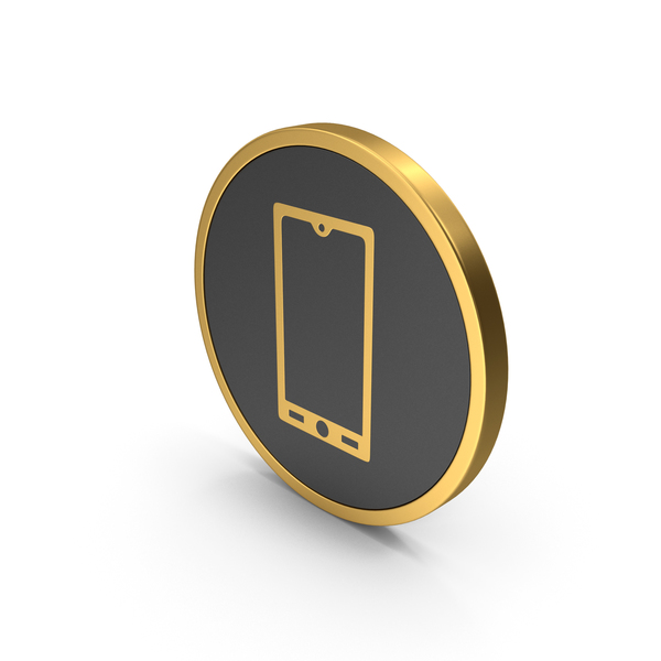 Logo: Gold Icon Smart Phone PNG & PSD Images