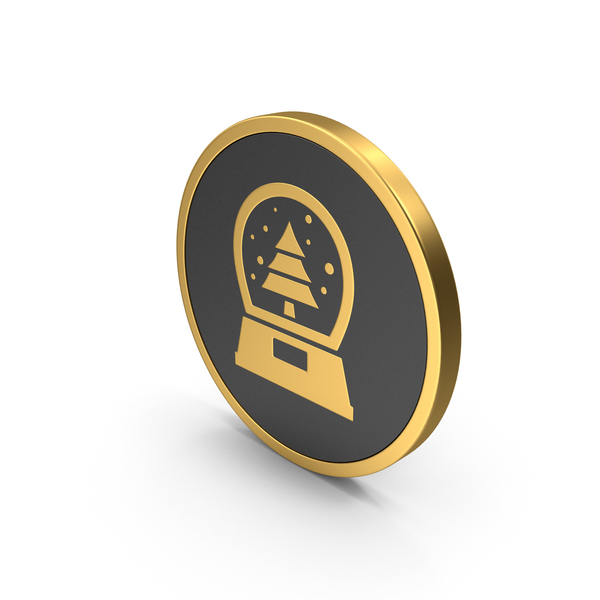Gold Icon Snow Globe PNG & PSD Images
