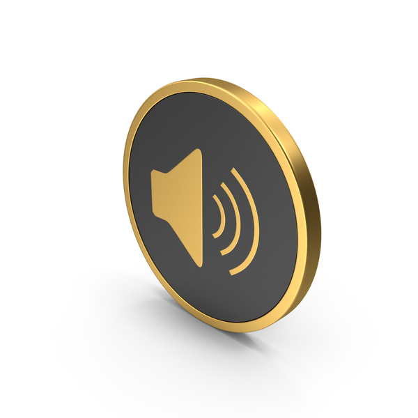 Gold Icon Sound PNG & PSD Images