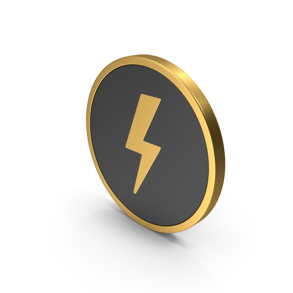 Meteorology Symbols: Gold Icon Storm PNG & PSD Images