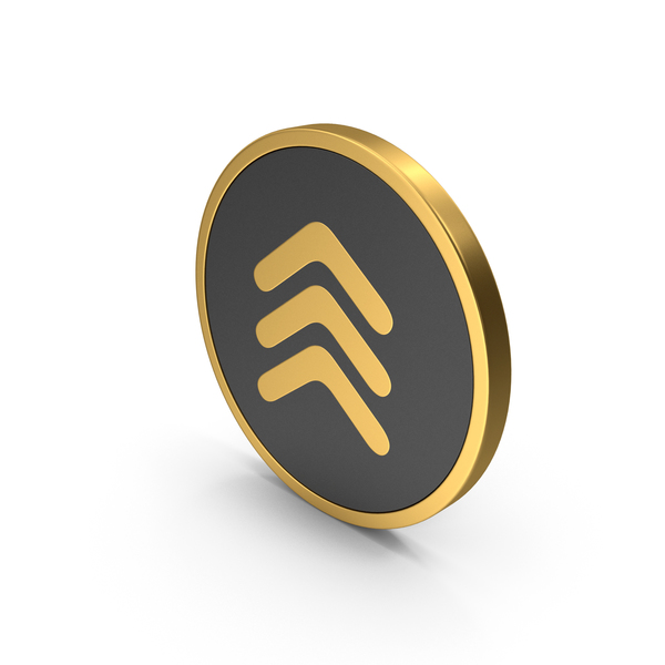 Gold Icon Three Arrows PNG & PSD Images