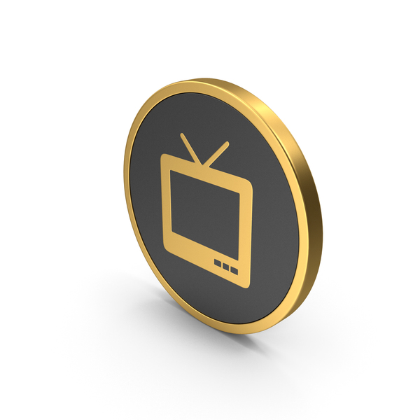Computer: Gold Icon TV PNG & PSD Images