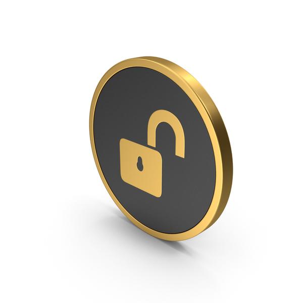 Lock: Gold Icon Unlocked Padlock PNG & PSD Images