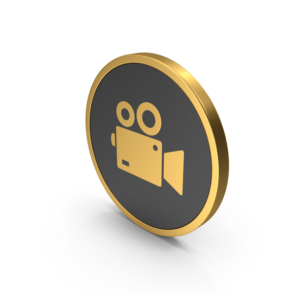 Computer: Gold Icon Video Camera PNG & PSD Images