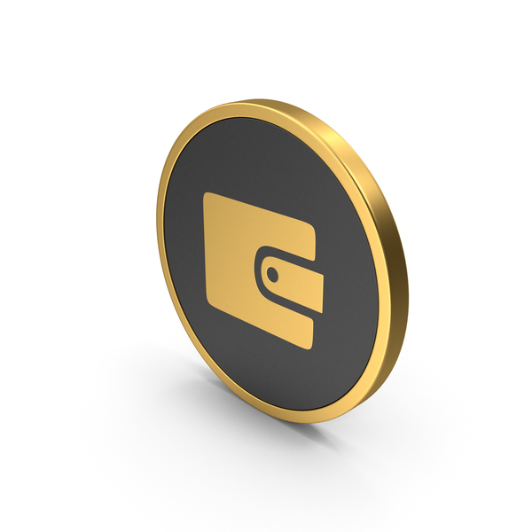Gold Icon Wallet PNG & PSD Images
