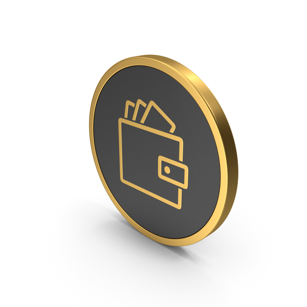 Symbols: Gold Icon Wallet With Money PNG & PSD Images