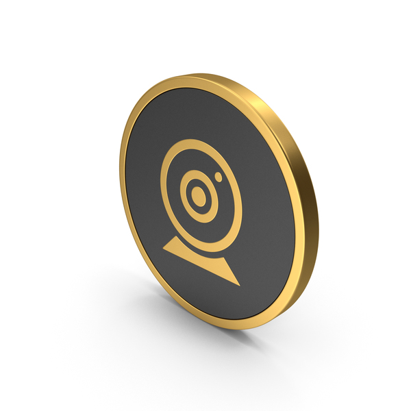 Camera: Gold Icon Webcam PNG & PSD Images