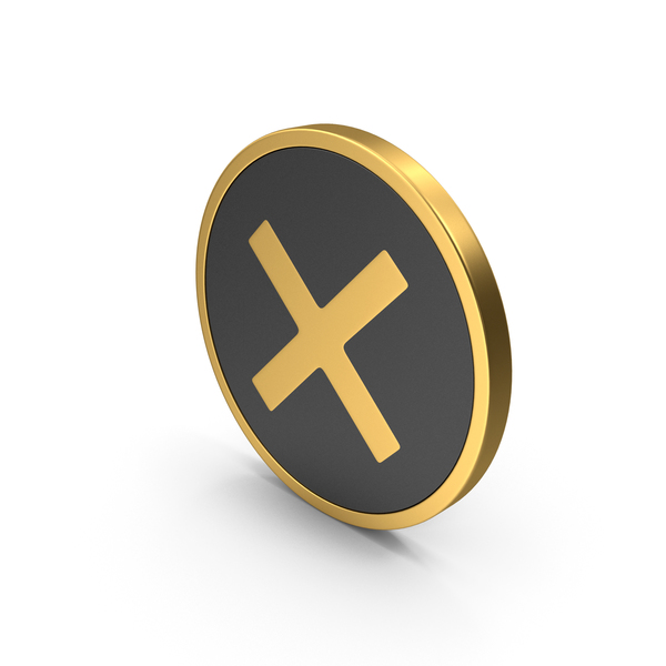 Gold Icon X Mark PNG & PSD Images