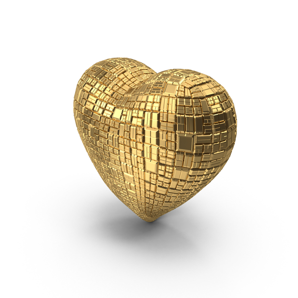 Gold Ingot Heart PNG & PSD Images
