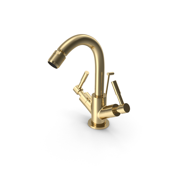 Gold Kitchen Faucet PNG & PSD Images