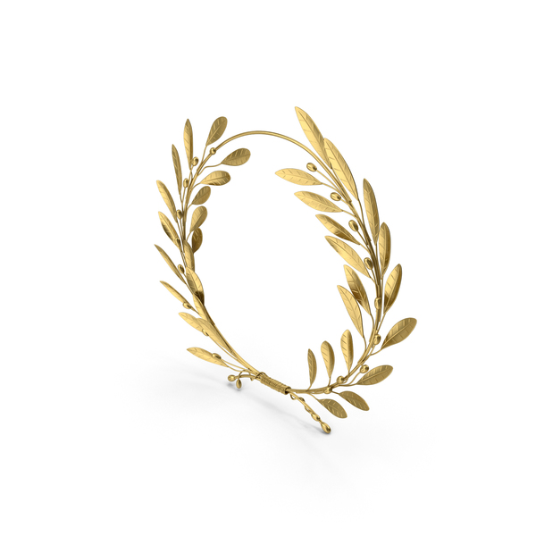 Gold Laurel Wreath PNG & PSD Images