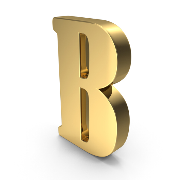 Language: Gold Letter B PNG & PSD Images