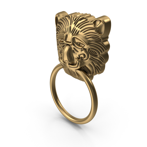 Gold Lion Head Handle PNG & PSD Images
