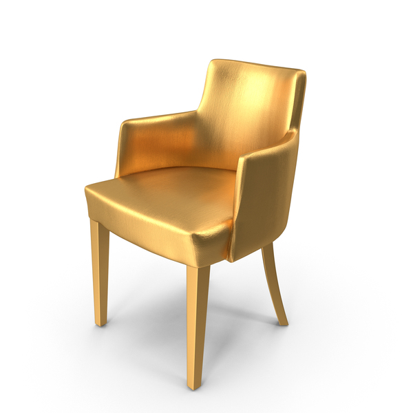 Arm: Gold Lounge Chair PNG & PSD Images