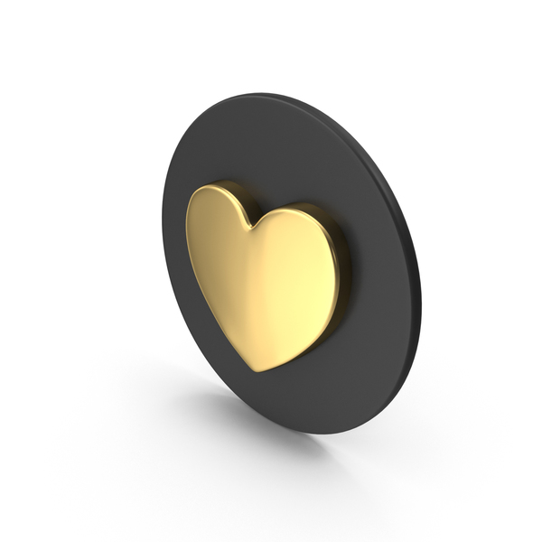 Gold Love Icon PNG & PSD Images