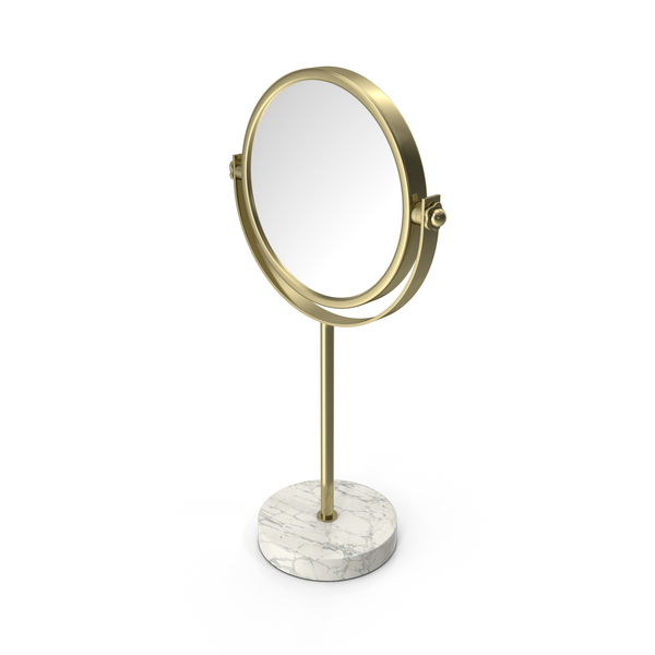 Gold Marble Stand Up Mirror PNG & PSD Images