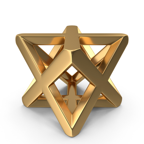 Religious Icon: Gold Merkaba Symbol PNG & PSD Images