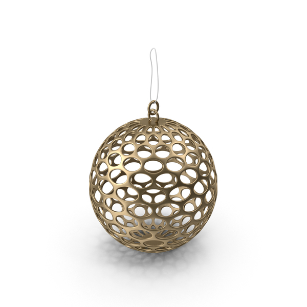 Gold Mesh Christmas Ornament PNG & PSD Images