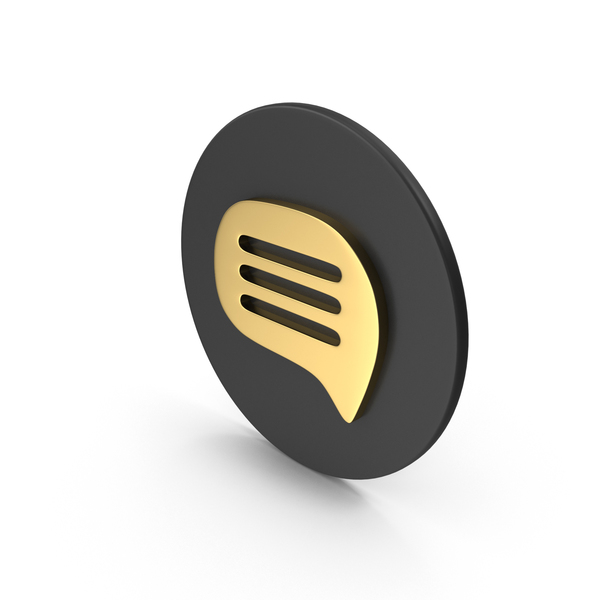 Computer Icon: Gold Message Symbol PNG & PSD Images