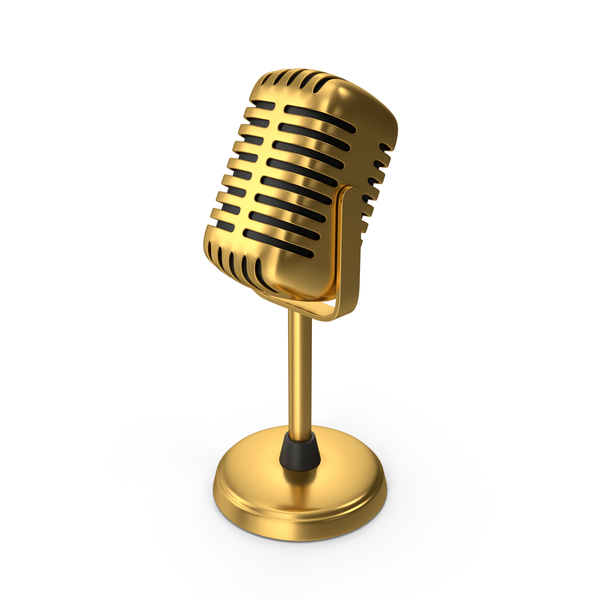 Gold Microphone PNG & PSD Images