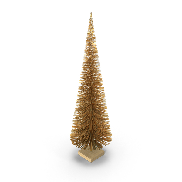 Gold Miniature Christmas Tree PNG & PSD Images