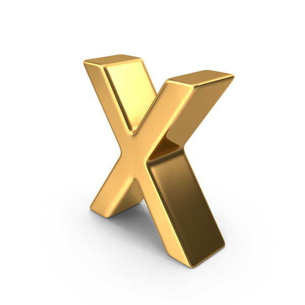 Mathematical Symbols: Gold Multiplication Symbol PNG & PSD Images