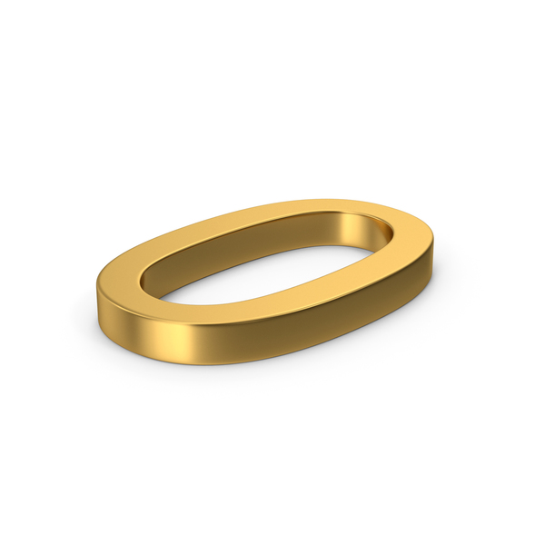 Gold Number 0 PNG & PSD Images