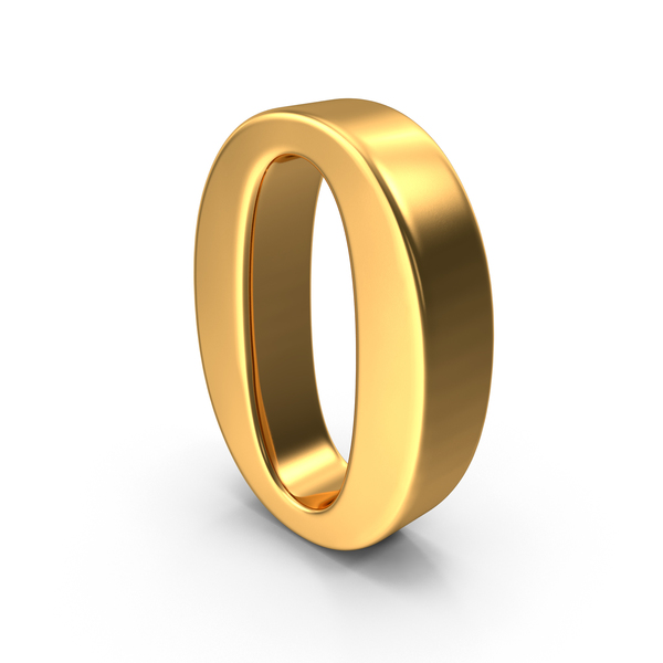 Gold Number 0 Object