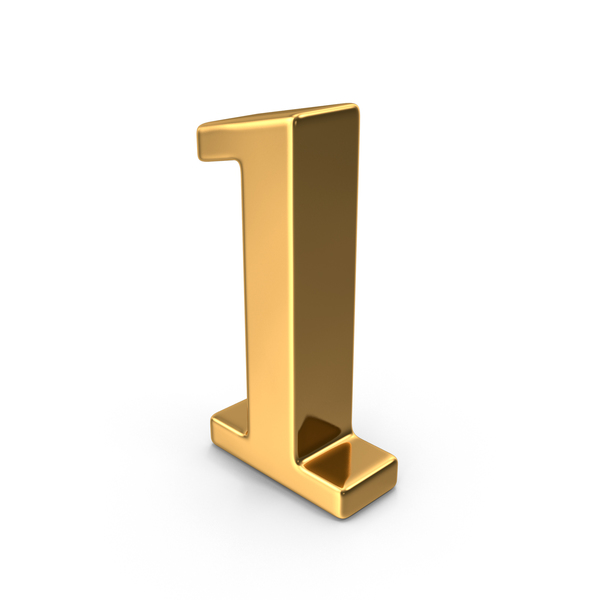 Gold Number 1 PNG & PSD Images