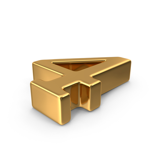 Gold Number 4 Object