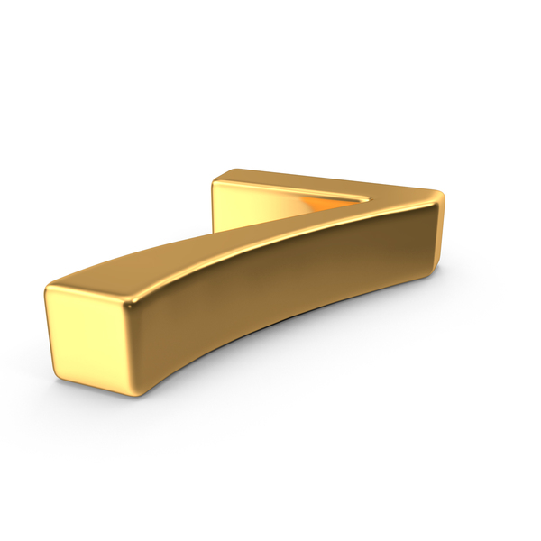Gold Number 7 Object