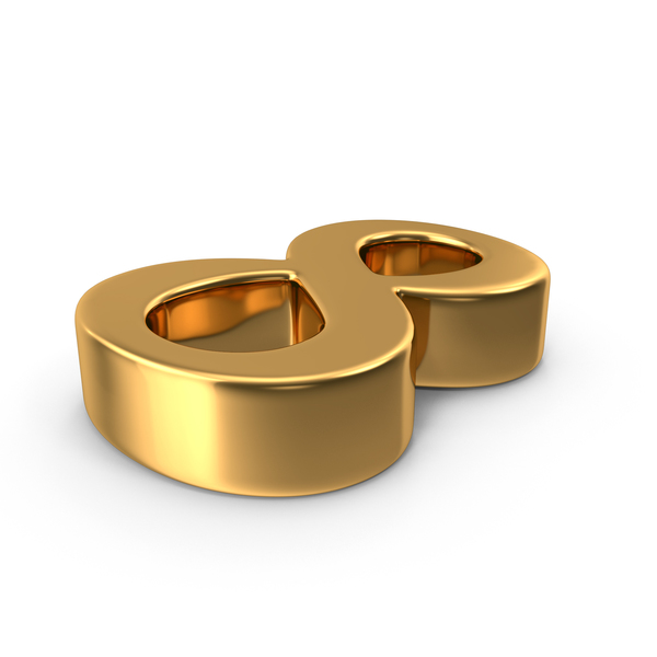 Gold number 8 PNG & PSD Images