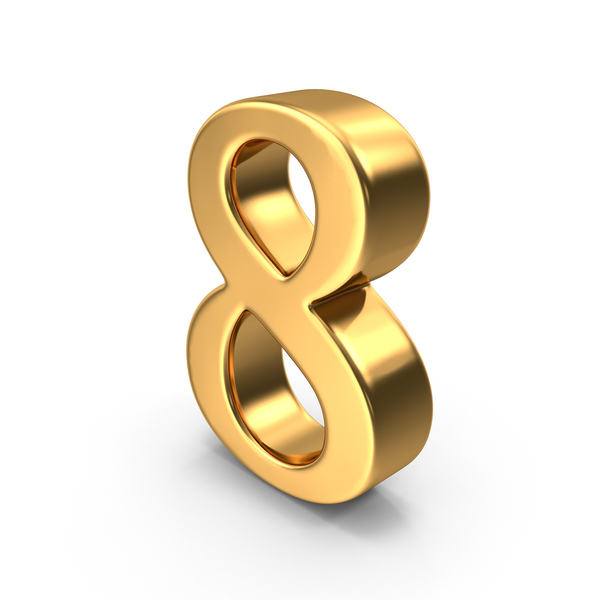 Gold Number 8 Object